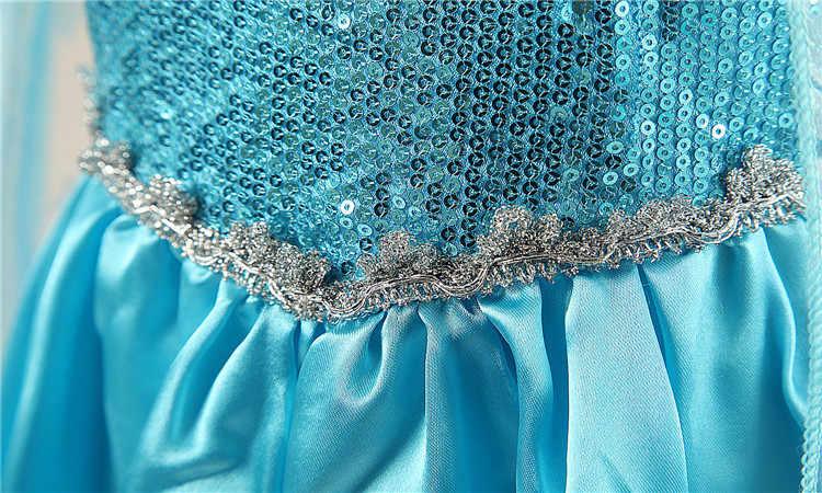 ファンシー 4-10y 女の赤ちゃんプリンセスエルザ服着用コスプレエルザ衣装ハロウィンクリスマスパーティークラウン