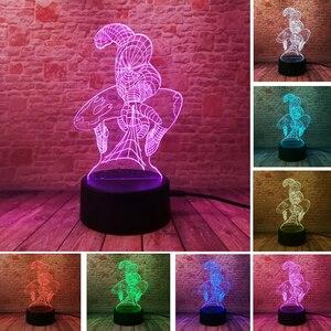 Image 5 - 5 שונה Superhero איש דמות ספיידרמן 3D מנורת 7 צבע Led Gradient לילה אור ילדים Lampara שינה Creative פסטיבל מתנה