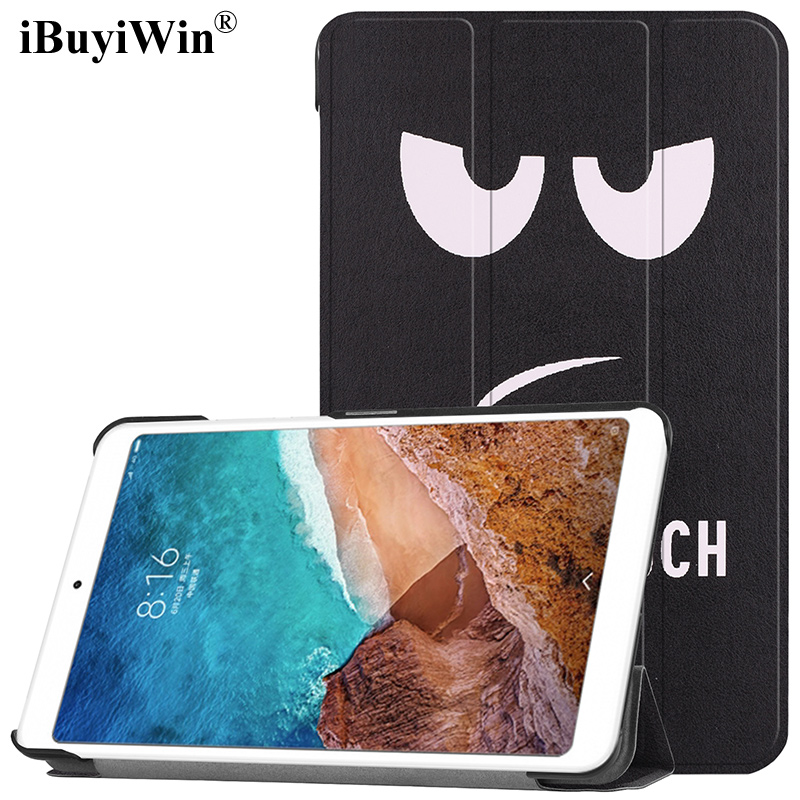 Smart Cover Case for Xiaomi Mi Pad 4 Slim Folding Stand PU Leather Case for Xiaomi MiPad 4 8.0 inch Tablet Funda+Screen Film+Pen цена