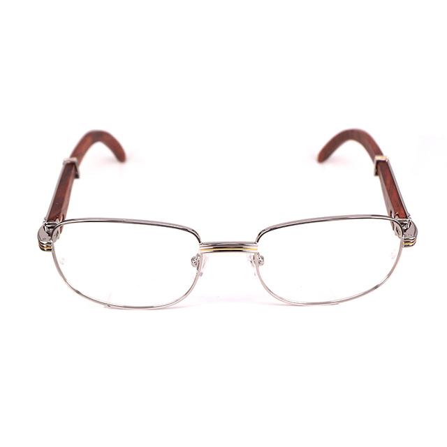 Retro Vidros Ópticos Frame para Homens Óculos Óculos Homens Prescrição de Óculos Armações de Óculos de Chifre de Búfalo Óptica Artesanato Em Madeira