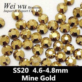 SS20 στρογγυλό γυαλί μηχανή κοπής ορυχείο χρυσού κόλλα σε 1440pcs τέχνη νυχιών τέχνη