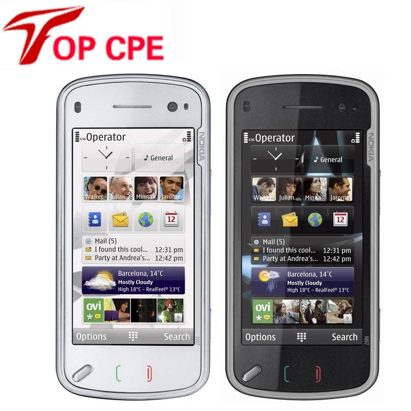 """bilder für Original nokia N97 handy Entsperrt Refurbished QWERTY Russische tastatur 32 GB 5MP 3,5 """"Symbian Slider Single-Core-telefon"""