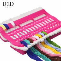 3 Colors 30 Positions Cross Stitch Row Line Tool Sewing Needles Holder Embroidery Floss Thread Organizer
