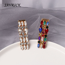 Simple Hairpin Headband Clips Crystal Square Water Droplets BB Hair Clip Jewelry Accessories For Women