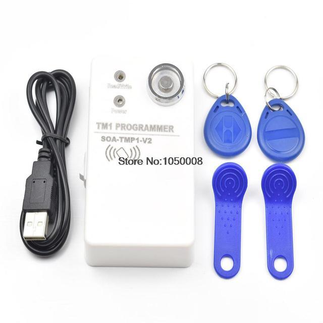 1pcs/lot TM Ibutton card handheld duplicator DS1990 RW1990 and 125khz EM4305 T5577 and compatible rfid copier