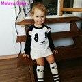 Malayu Baby Europe 2016 Brand New Fall Cartoon Print Girl's Clothing, Cute Mouse Panda Pattern Fashion Girl's Clothing