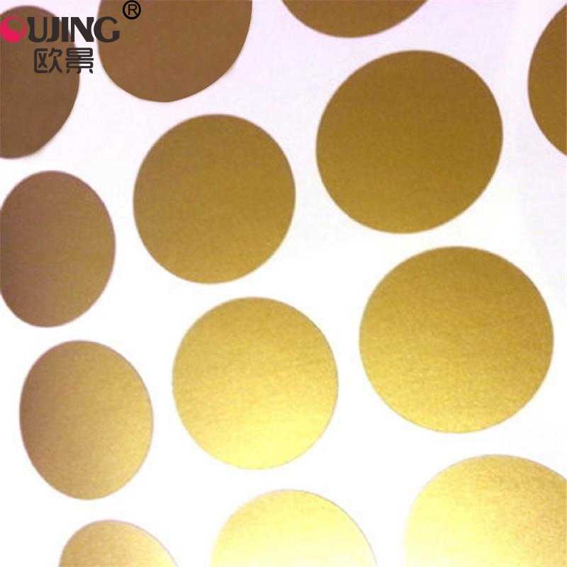 Gold Polka Circle Dots Wall Stickers For Kids Rooms Nursery Tiny Polka Round Wall Decals Home Decor Wall Art Mura For Kids Gifts