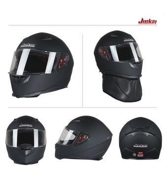 JIEKAI AJK313 Full Face Motorcycle Helmet Men Winter Knight Racing Motorbike Helmets ABS Four Seasons Size L XL With Warm Collar