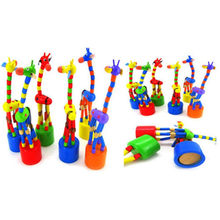 Kids Intelligence Toy Dancing Stand Colorful Rocking Giraffe Wooden Toy Toys for Children Infant Playing Education toy(China)