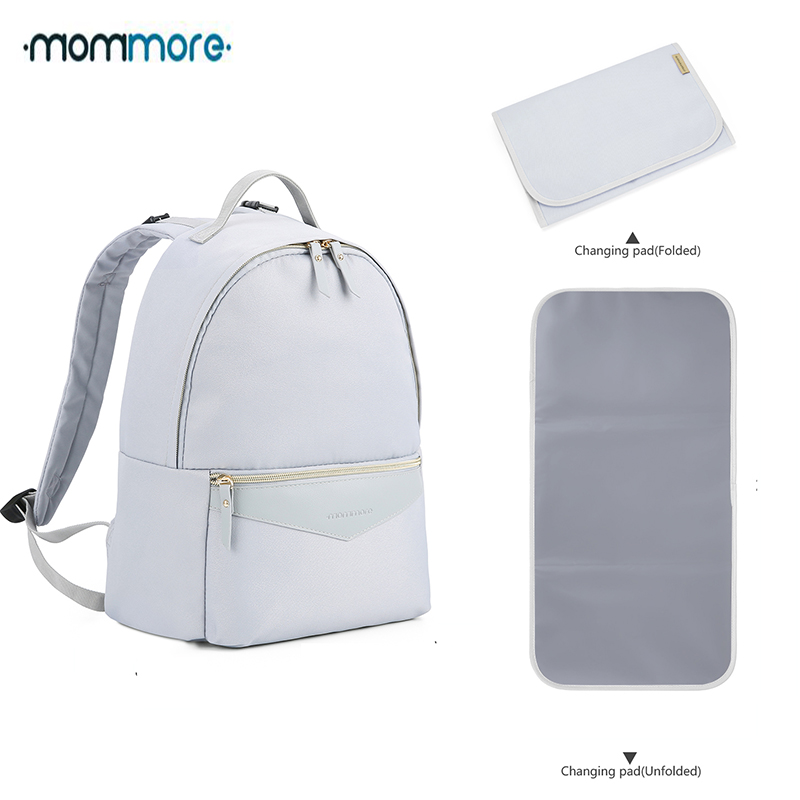 Mommore Fashion Diaper Backpack Waterproof Travel Diaper Bag With Changing Pad Maternity Nappy Bag Nursing Bag For Baby Care