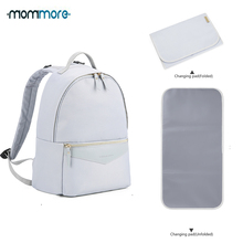 mommore Fashion Diaper Backpack Waterproof Travel Bag with Changing Pad Maternity Nappy Nursing for Baby Care