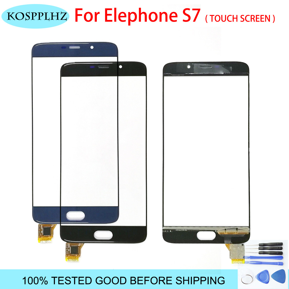 100% Tested Mobile Phone Touchscreen For elephone S7 Touch Screen Panel Digitizer Front Glass Sensor S 7 Accessories + Tools|Mobile Phone Touch Panel|Cellphones & Telecommunications -