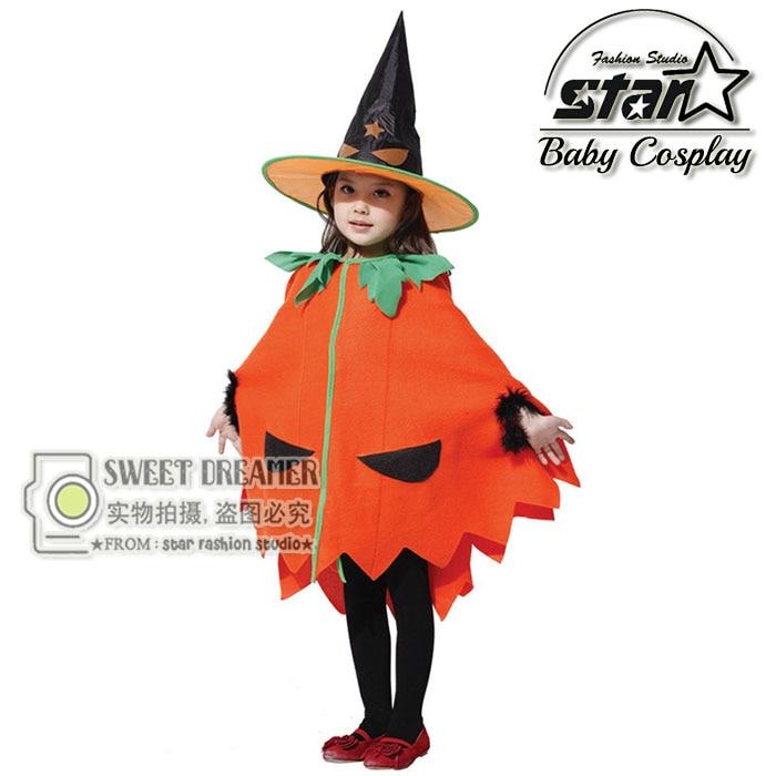 Girls Dress Halloween Candy Pumpkin Orange Cotton Dress Carnival Performance Stage Costume  Children Masquerade Party Clothes baby girls halloween pumpkin dress girls halloween stripe ruffle dress halloween party dress long sleeve with accessories