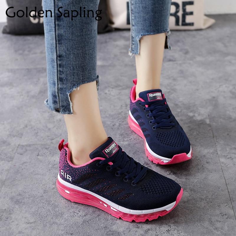 Golden Sapling Women's Sneakers 2018 Breathable Running Shoes for Women Air Mesh Cushion Sneakers Women Sport Shoes Ladies Shoe цена