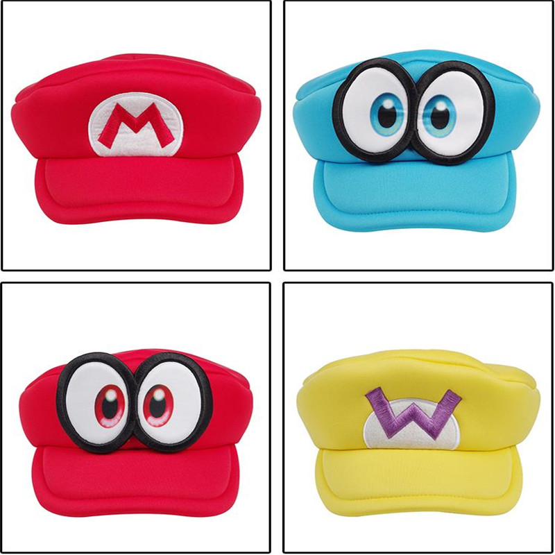Super Mario Odyssey Game Big Eyes Cappy Hats Cartoon Japanese Anime Cosplay Halloween Party Hats Adults Kids Sponge Soft Boocre Boy S Hats Aliexpress