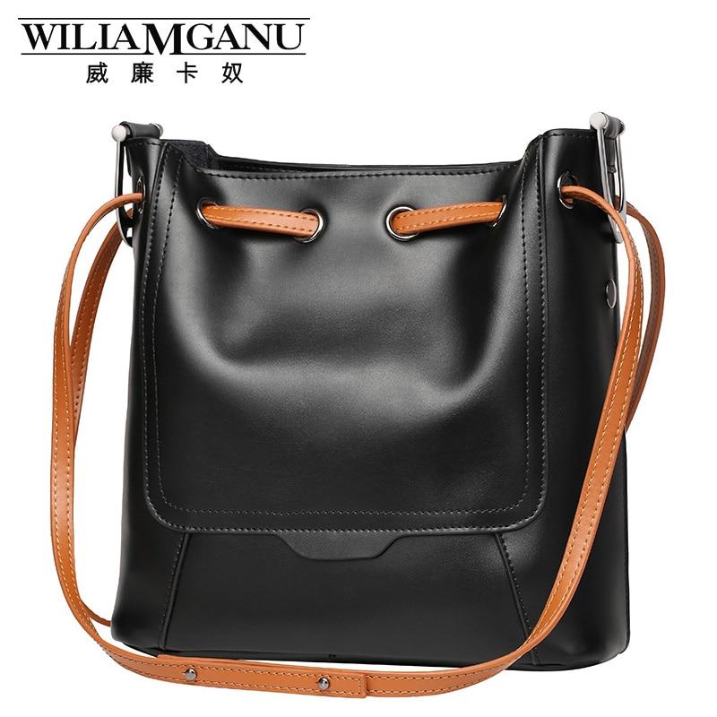 ФОТО women's luxury leather WILIAMGAN brand 2017  Highest quality handbags new fashion leather handbag shoulder bag Messenger bag