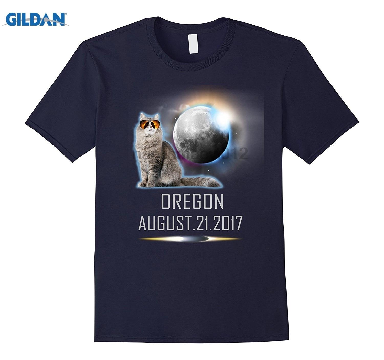 GILDAN Cat Oregon USA Total Eclipse August 21st 2017 T Shirt Womens T-shirt