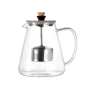 Image 5 - Stainless Steel Infuser Teapot Clear Borosilica Glass Filter Heat Resistant Coffee Puer Tea Pot Heated Container Boiling Kettle