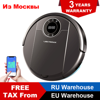 LIECTROUX ZK808 Robot Vacuum Cleaner Wifi App Control, Map Navigation, 3000PA Suction, Smart Memory, Wet Dry Mop,Brushless Motor free ship to russia wifi smartphone app control mini robot vacuum cleaner qq6 with wet and dry mop water tank lithium battery