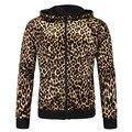 Leopard Hoodies Suit Men Slim Fit zipper coat man cardigan Sweatshirt Hoodie Long-sleeved Sweatshirt Casual Hooded