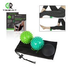3PCS  Trigger Point Massage Ball Set Peanut Massage Ball Lacrosse Balls Fitness Relieve Gym