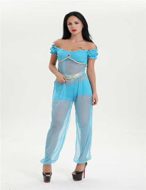 Arabian princess jasmine costume women Aladdinu0027s Jasmine cosplay halloween costumes for women Belly dance dress plus  sc 1 st  AliExpress.com & Arabian princess jasmine costume women Aladdinu0027s Jasmine cosplay ...