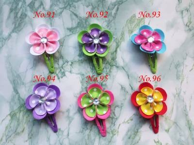 """100 шт """" грогрен цветок Мода большой бант заколки для волос/много цветов лук шпильки для волос в горошек/девушка аксессуары для волос"""