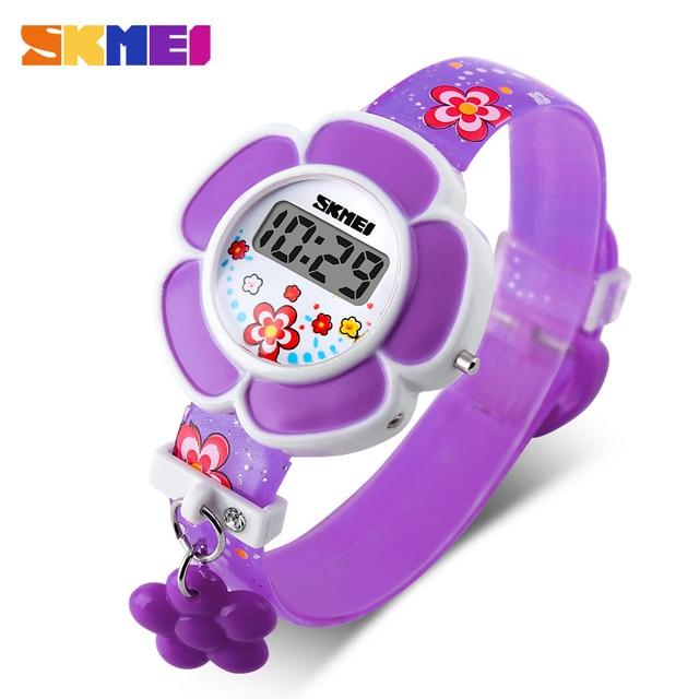 Hot Sale Flower Printed Wrist Watch Children Watches Cute Cartoon Watch Kids 3D