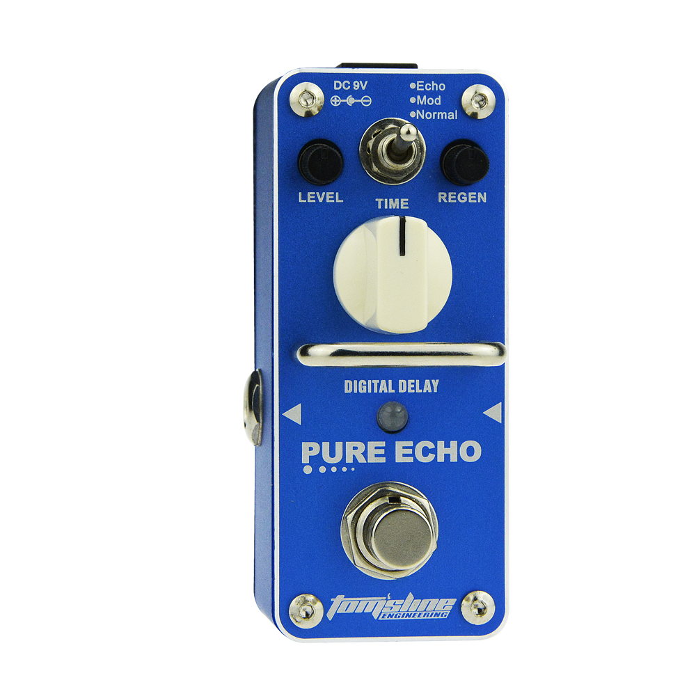 Aroma Pure Echo Digital Delay Guitar Effect Mini Analogue Pedal APE-3 True Bypass Metal Shell Level Knob Durable Accurate amo 3 mario bit crusher electric guitar effect pedal aroma mini digital pedals full metal shell with true bypass
