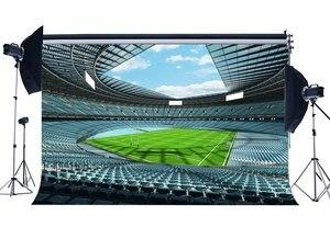 Image 1 - Estádio de futebol de Campo de Rugby Cenário Luxuoso Birds Eye View Sports Jogo Backdrops Fundo Verde