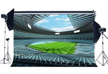 Rugby Field Backdrop football Stadium Luxurious Birds Eye View Sports Match Backdrops Green Background