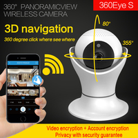 360 degree camera3D navigation Internet network HD video Wireless Home Security Surveillance 360 Video Camera Baby Monitor 2.0MP