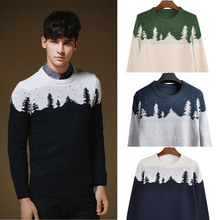 2014 New Autumn & Winter Fashion Cardigan Christmas Trees Knitted Mens Sweaters Slim fit Casual Outerwear Man Clothing M-XXL