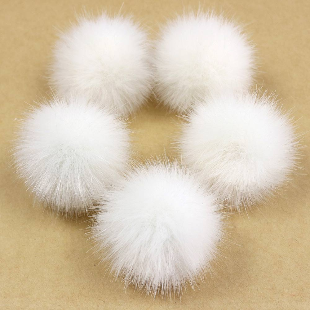 10pcs Fake Mink Fur Pompom Ball 3cm Small Size Pompom Fur Ball DIY For Earrings Keychain Scarf Shoes Hats Accessory Wholesale