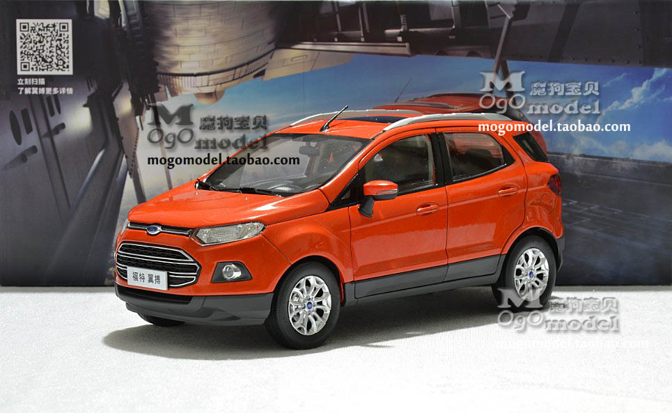 Hot sale Ford EcoSport 1:18 car model Compact SUV metal alloy diecast collection gift orange original  Limited Collector maisto jeep wrangler rubicon fire engine 1 18 scale alloy model metal diecast car toys high quality collection kids toys gift