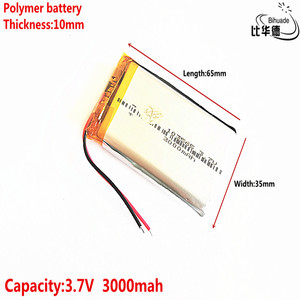 Image 3 - Good Qulity Liter energy battery 3.7V,3000mAH 103565 Polymer lithium ion / Li ion battery for tablet pc BANK,GPS,mp3,mp4