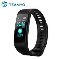 Ekran Teamyo Inteligentny zespół Kolor Activity Monitor Tętna Fitness Tracker Inteligentne Zegarki Ciśnienie Krwi Budzik VS Miband 2