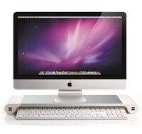 Hmsunrise Monitor riser holders Multi bracket Aluminum Alloy Monitor Stand for apple iMac for desktop monitor Charging station