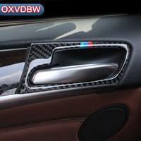 Carbon Fiber Car Interior Door Handle Cover Trim Door Bowl Stickers decoration for BMW F70 F71 X5 X6 2008 2013 2014 accessories