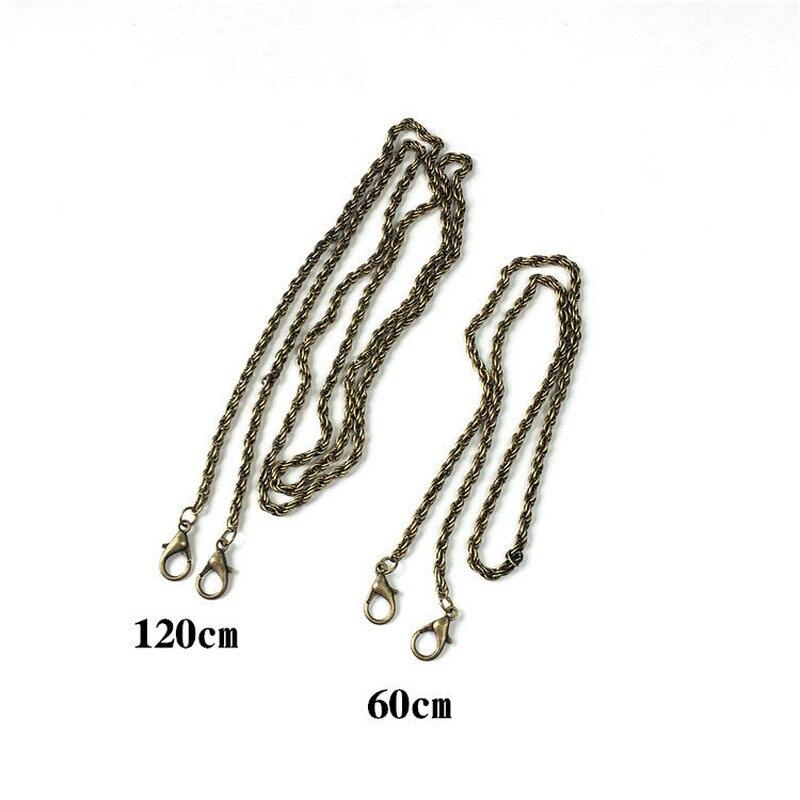 BDTHOOO 120cm Metal Bag Chain Buckle Handle for DIY Replacement Handbag Shoulder Clasp Straps Silver Bags Hardware Accessories