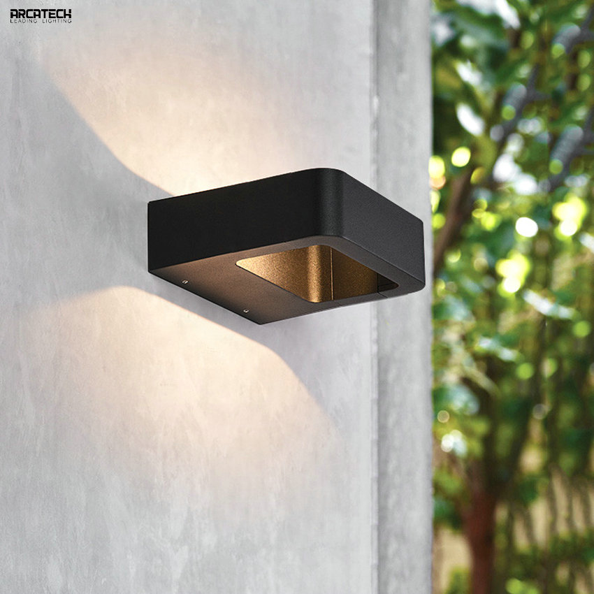 LED Wall Light Outdoor Waterproof Porch Light Garden Lamp Modern Indoor Wall Lamps Living Room Corridor Patio Lighting AT-41 18w led outdoor waterproof wall light ip65 modern nordic style indoor wall lamps living room porch garden lamp ac90 260v lp 42