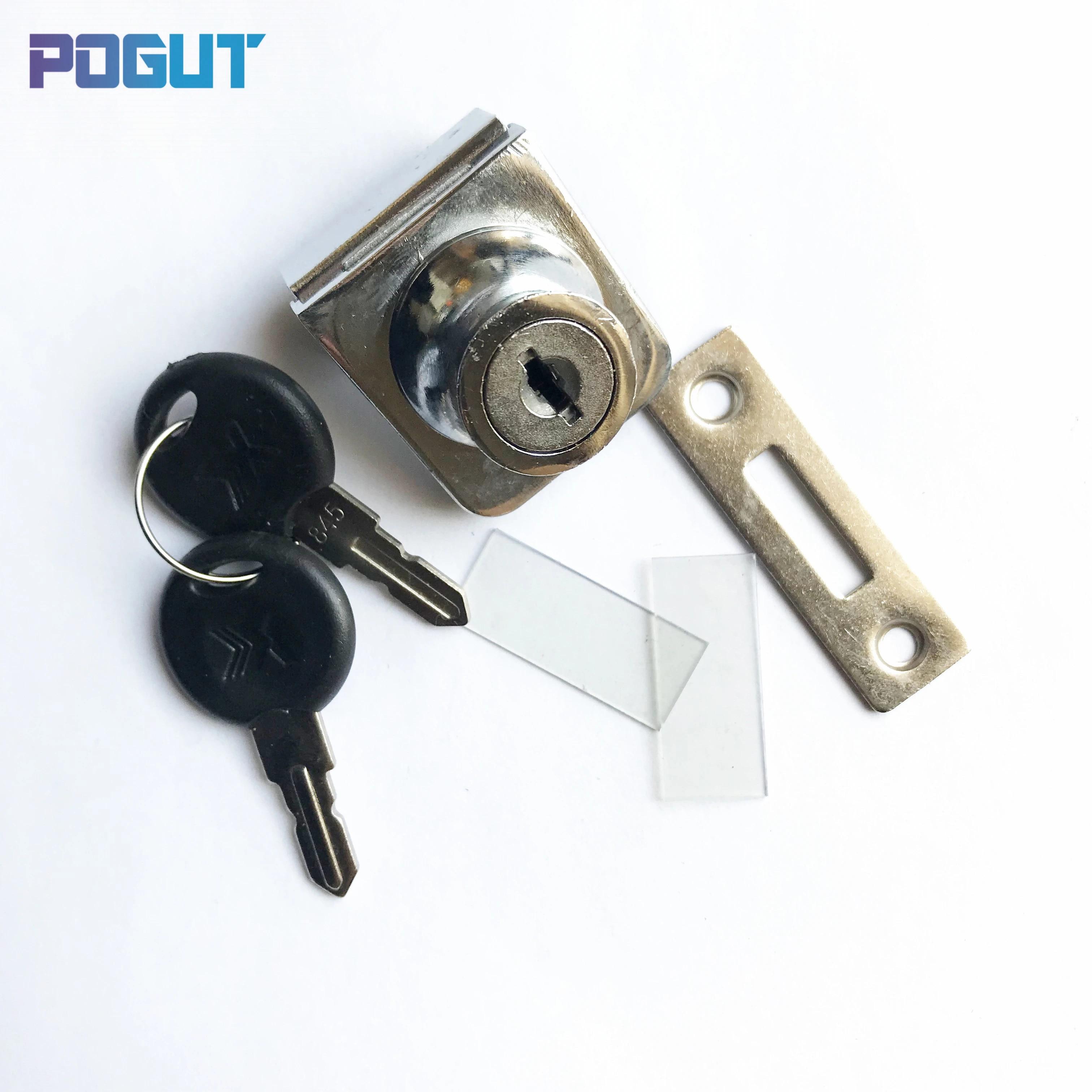 Single Glass Lock Showcase Cabinet Door Cylinder Sliding Glass Push Door Locks Zinc Alloy Cabinet Locks Aliexpress