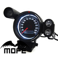 Original Logo Blue LED 80mm Digital Speedometer MPH Racing Gauge With Red Shift Light