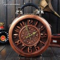 iPinee women's round vintage workable clock handbag true alarm time machine creative shoulder street fashion crossbody bags
