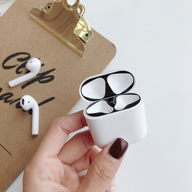 Buy For AirPods 2 Metal Skin Protection Sticker Easy To Install Personality for i10 i11 i12 i16 i17 i18 120 i140 i180 i200 i300 for only 2.39 USD