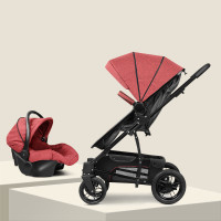 3 in 1 baby stroller with car safety seat, highlandscape baby stroller, rubber wheel baby pram, aluminium alloy baby cart