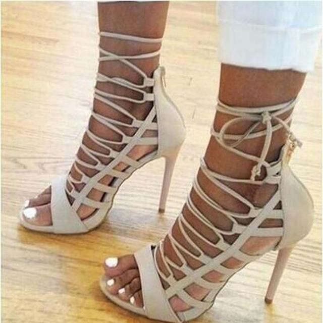 Women's Fashion Sexy Shoes New High Heels Open Toe Platform women pumps spring summer women's shoes thin heels #Y0596820L