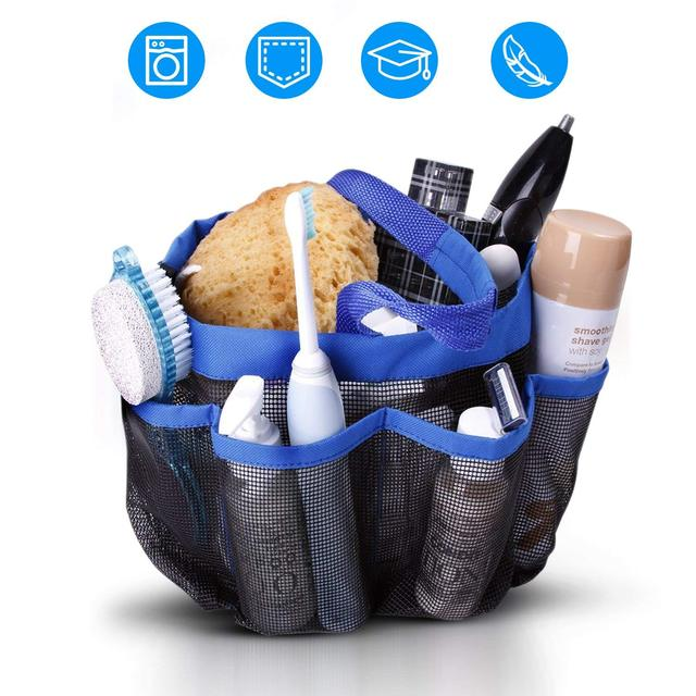Mesh shower caddy portable tote college dorm room essentials