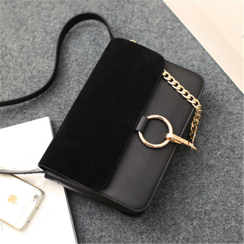 Designer Women Crossbody Bag Flap Small Single Shoulder Suede Messenger Bag For Girls Fashion Metal Circle Chain Stella Bag