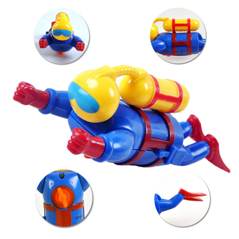 Kids Bathing Toys Gags Wind up Frogman Bath Diver Toy Swimming Frog Baby Bathroom Turtle Duck Bath Toy in Bath Toy from Toys Hobbies